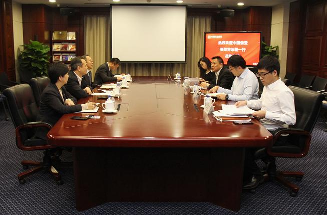 中国信登董事长张荣芳一行到访中国民生信托有限公司